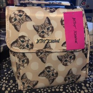 Betsey Johnson Cat Flat Top Lunch Tote